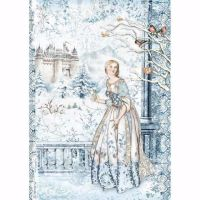 Stamperia  A4 Rice paper Winter Tales Fairy In the Snow