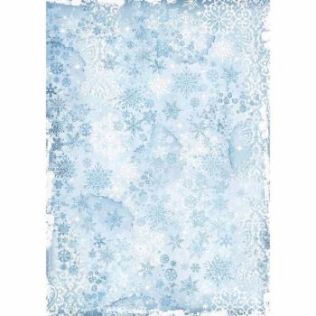 Stamperia  A3 Rice paper Winter Tales Snowflake