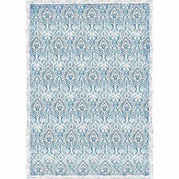 Stamperia  A3 Rice paper Winter Tales Damask Blue