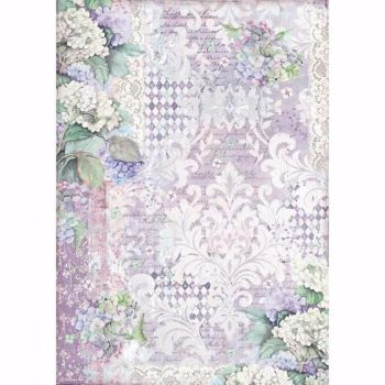 Stamperia  A3 Rice paper Packed Wallpaper Hortensia Wallpaper