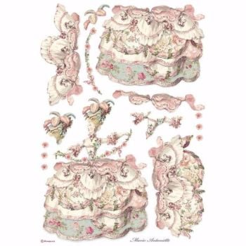Stamperia A3 Rice paper Pink Lady