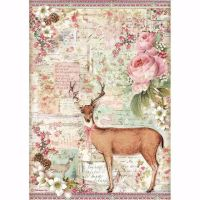 Stamperia  A4 Rice paper Christmas deer