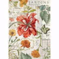 Stamperia  A4 Rice paper Packed Jardins