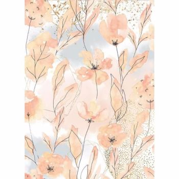 Stamperia  A4 Rice paper Aquerelle flowers