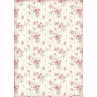 Stamperia  A4 Rice paper Rose wallpaper