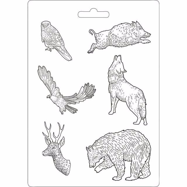 STAMPERIA A4 MOULD : Animal power