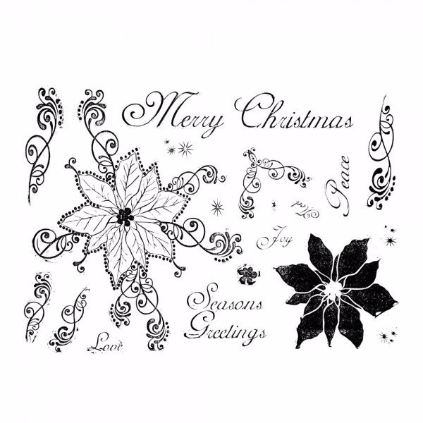 BE CREATIVE MAGICAL POINSETTIA MULTI LAYER STAMP SET