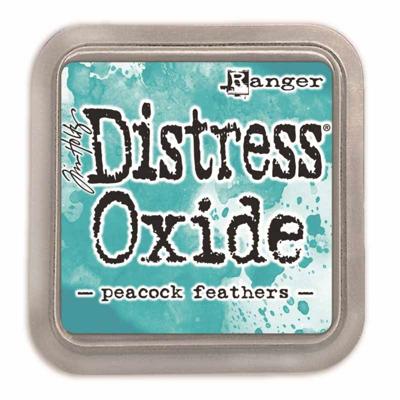 RANGER DISTRESS OXIDE INKPAD : PEACOCK FEATHERS