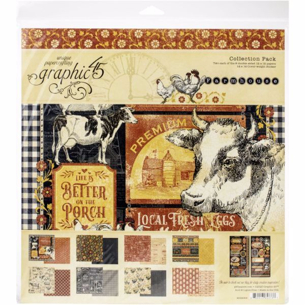 GRAPHIC 45 FARMHOUSE 12 X 12 COLLECTION PACK