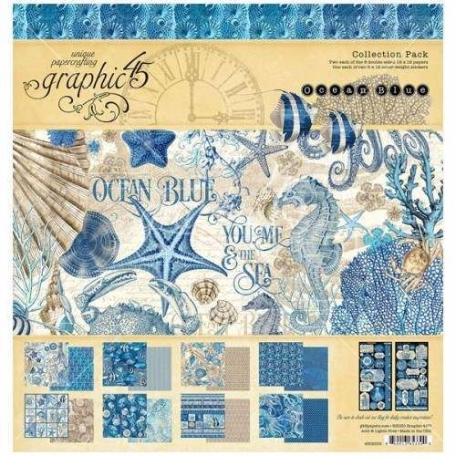 GRAPHIC 45 OCEAN BLUE 12X12 COLLECTION PACK