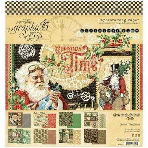 GRAPHIC 45 CHRISTMAS TIME COLLECTION PACK 12 X 12