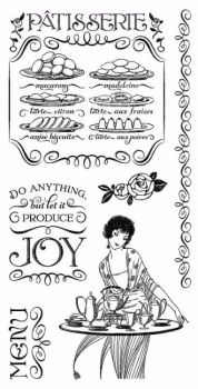 Graphic 45 Rubber Stamp Set : Patisserie