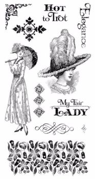 Graphic 45 Rubber Stamp Set : My Fair Lady