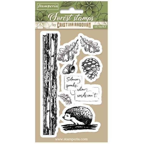 Stamperia Rubber Stamps Forest Hedgehog
