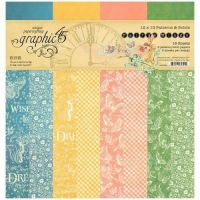 Graphic 45 Fairie Wings 12x12 Patterns & Solids Pad