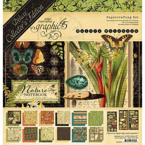 Graphic 45 Nature Notebook 12 x 12 Deluxe Collectors edition