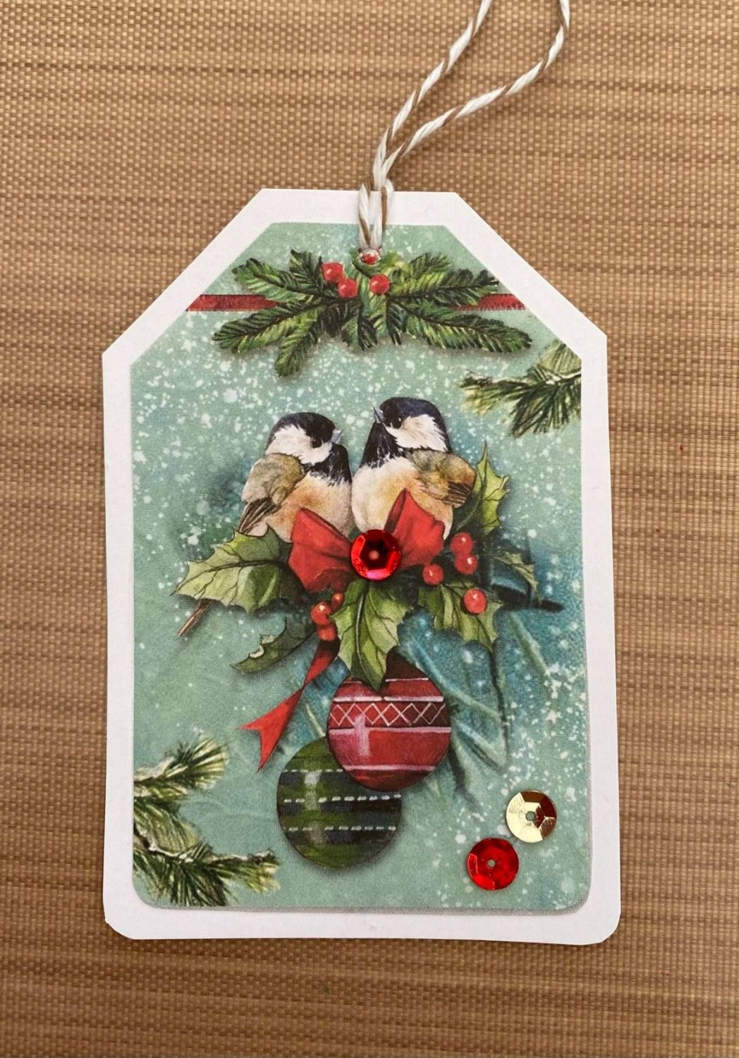 Stamperia - be Creative Craft Christmas Sample - Bird Tag