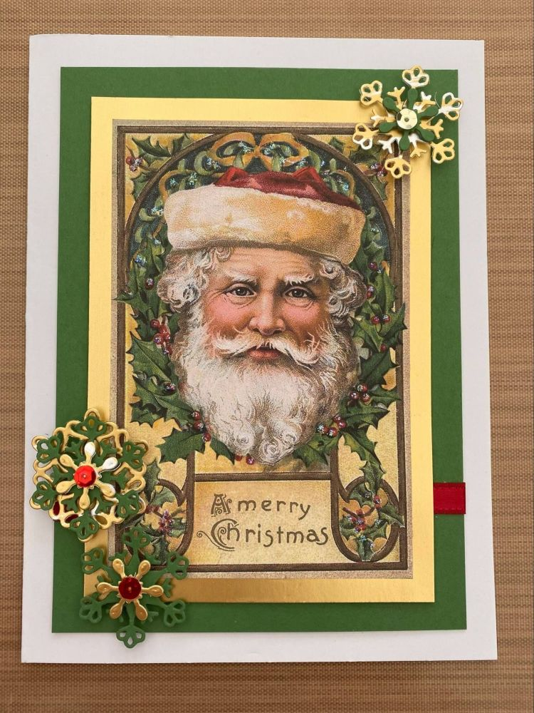 Stamperia - be Creative Craft Christmas Sample - Vintage Santa