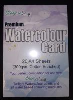 NEW WATERCOLOUR CARD : COTTON RICH/300G/20 X A4 SHEETS..SPECIAL OFFER ..BUY 1 GET 1 FREE !!