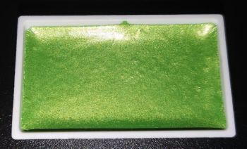 (BT) New Twilight High Pigment Pearlescent Watercolour Paints : GLISTENING GREEN
