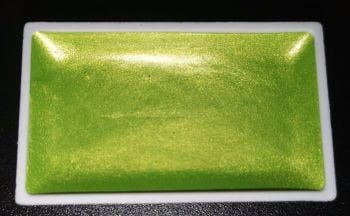 (BS) New Twilight High Pigment Pearlescent Watercolour Paints : LUSCIOUS LIME