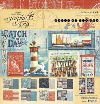 Graphic 45 Catch Of The Day 12x12 Collection Pack - (Pre Order)