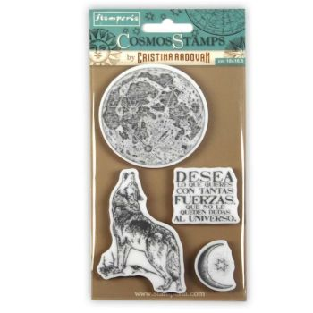 Stamperia Rubber Stamps Cosmos Lobo