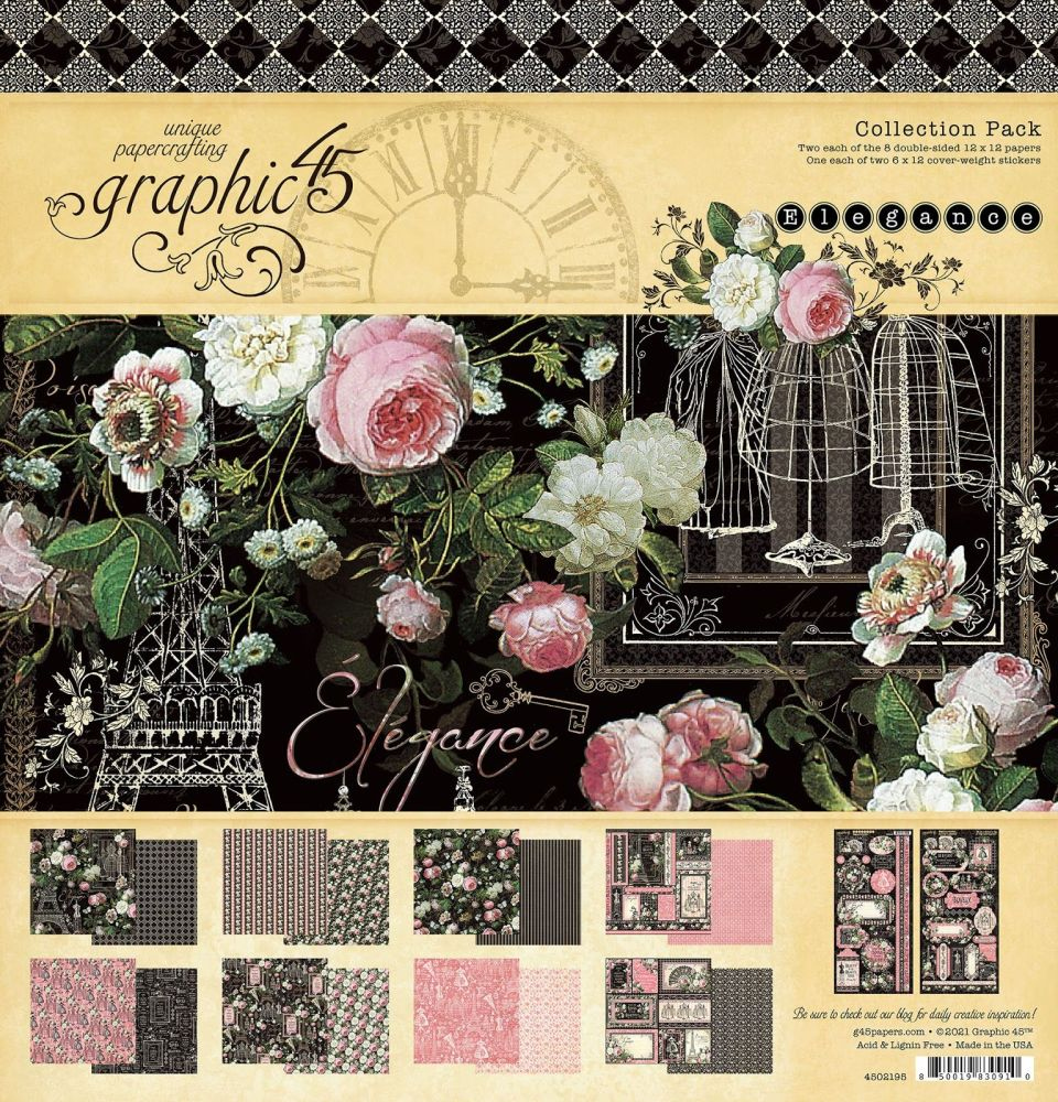 Pre Order Graphic 45 Elegance 12x12 Collection Pack