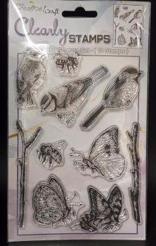 New : Be Creative A5 Stamp set : Birds,Bees and Butterflies