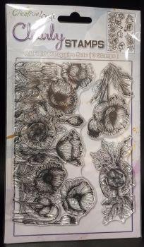NEW : Be Creative Field of Poppies stamp set : A5