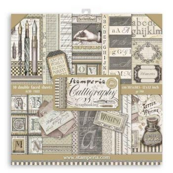 Stamperia Calligraphy 12 x 12 paper pad
