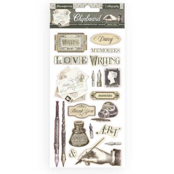 Stamperia Chipboard shapes Calligraphy