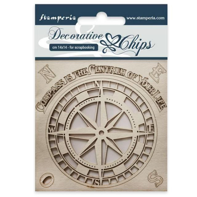 Stamperia Decorative Chips Compass