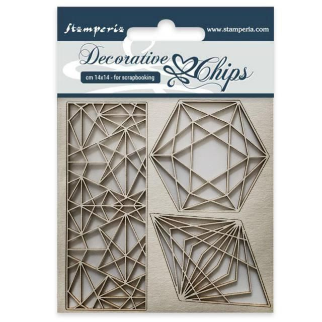 Stamperia Decorative Chips Geometry