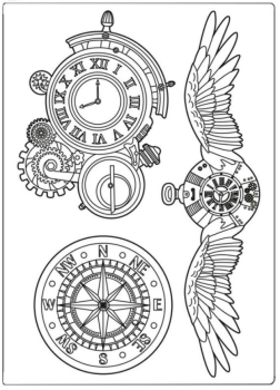Stamperia Clocks & Wings Silicone Mould