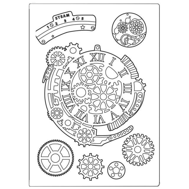 Stamperia Gears Fantasy Silicone Mould