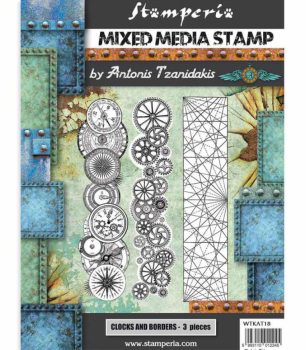 Stamperia Mixed Media Stamp Set Steampunk Borders