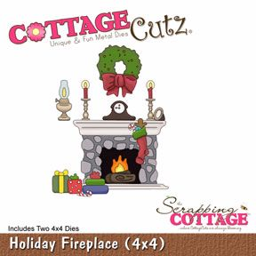 Cottage Cutz USA : Holiday Fireplace die set : two dies