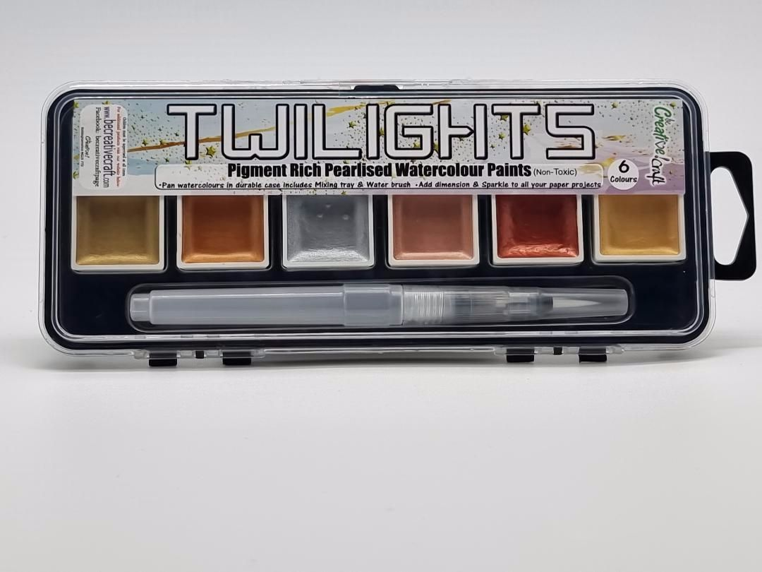 Twilights Set 1 : 6 colours plus storage and water brush
