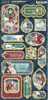 New Product : Let it Snow Chipboard pieces