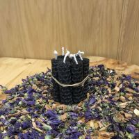Black Beeswax Mini Spell Candle