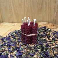 Burgundy Beeswax Mini Spell Candle