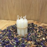 White Beeswax Mini Spell Candle