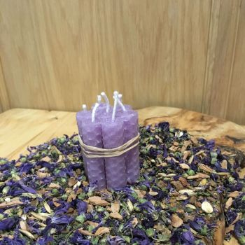 Lilac Beeswax Mini Spell Candle