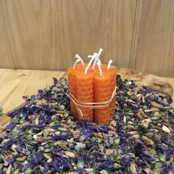 Orange Beeswax Mini Spell Candle