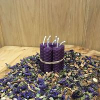 Purple Beeswax Mini Spell Candle