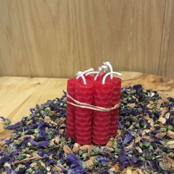 Red Beeswax Mini Spell Candle