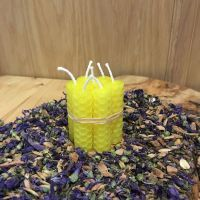 Yellow Beeswax Mini Spell Candle