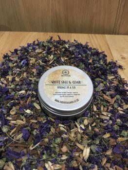 White Sage & Cedar - Smudge in a Tin