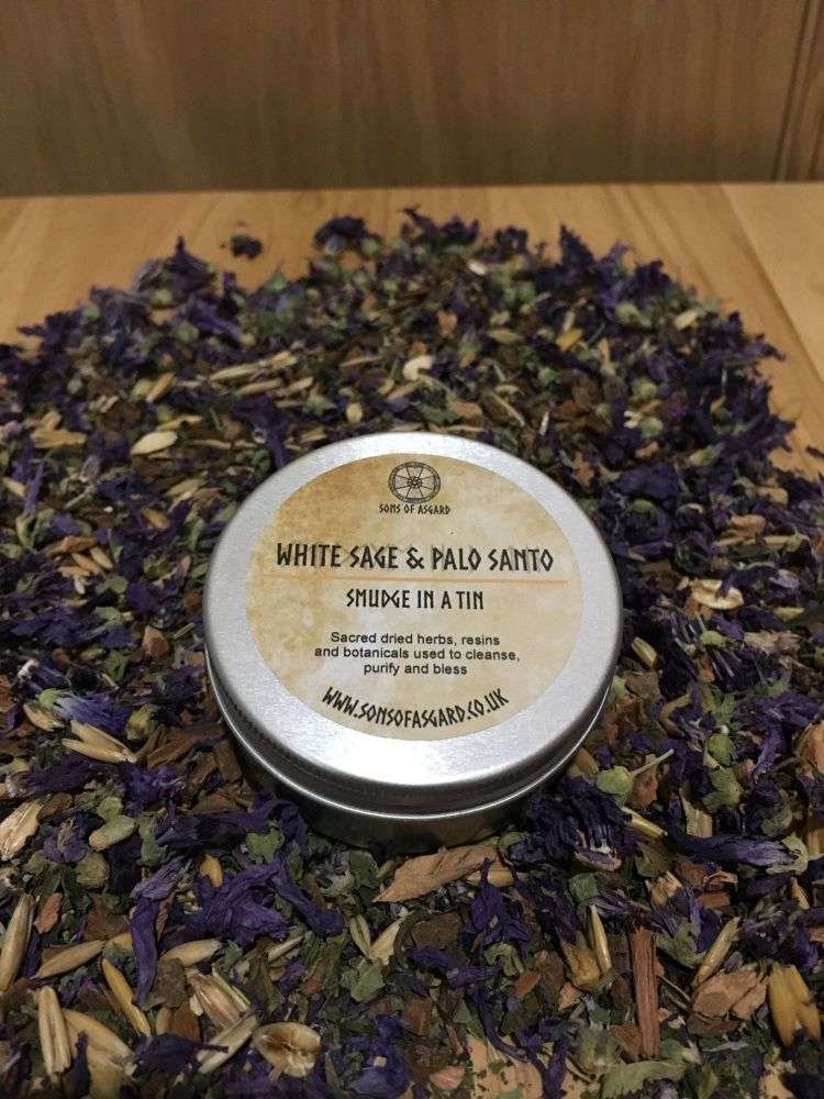 White Sage & Palo Santo - Smudge in a Tin